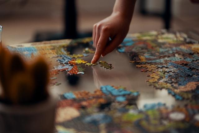 Lekker ontspannen met een legpuzzel